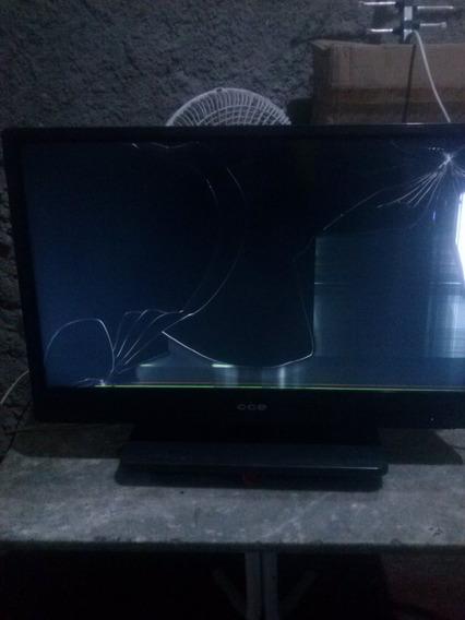 Tv Cce Lt28g Com Tela Quebrada