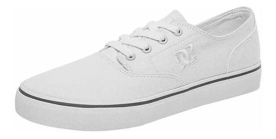 Dc Shoes Tenis Flash 2 Tx Shoes Blanco Textil Skate Hombre
