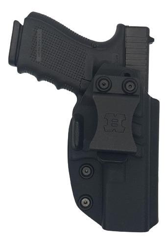 Imagen 1 de 3 de Pistolera Interna Houston Kydex Diestra Glock 19 23