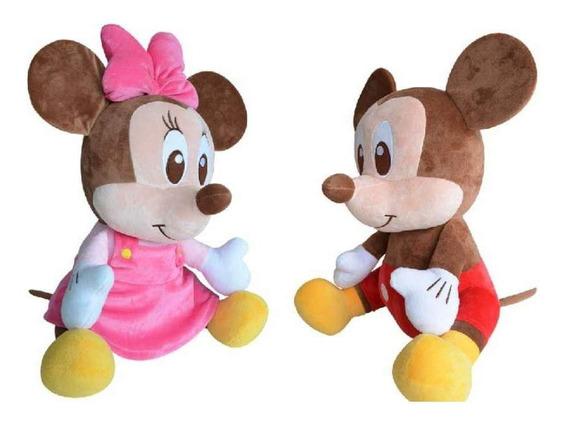 Minnie É Mickey De Pelúcia Com Etiqueta E Sem Uso