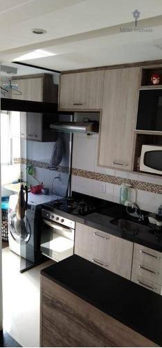 Apartamento 2 Dormitórios À Venda, 47m², Condomínio Parque Sicília, Pq. Campolim Em Sorocaba/sp - Ap1348