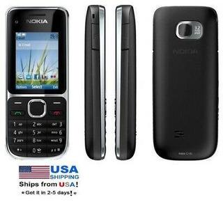 Nokia C Serie C2-01 - Negro (t-mobile) 3.2 Mp Teléfono -2802