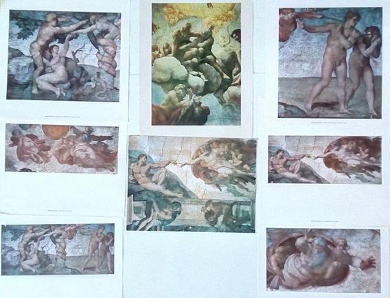 Laminas De La Capilla Sixtina Del Arte De Miguel Angel