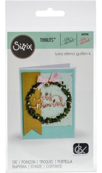 Troqueladora Frase En Español Feliz Navidad Thinlits Sizzix