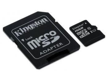 Kingston 16gb Microsd G2 + Adaptador (class 10) Sdc10g2/16gb