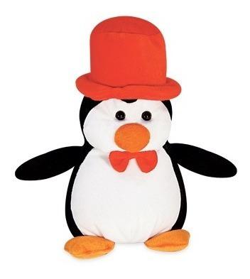 Pinguim De Pelucia 29cm Em Pé Cartola Lavavel Antialerg Novo