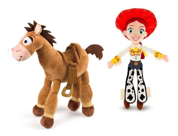 Pelúcia Cavalo Bala No Alvo E Jessie Toy Story 4 Som - Br807