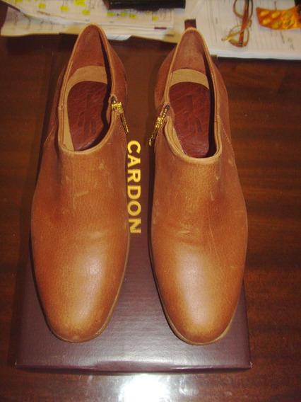 Botinetas Cardon Talle 37 Cuero Calidad Premium Gold !!!