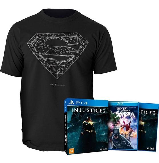 Injustice 2 + Filme + Camiseta Ps4 Mídia Fisica