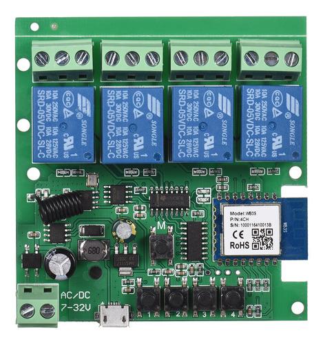 Imagen 1 de 9 de Tuya Wifi+bt 433mhz Interruptor Inalámbrico De Control Remot