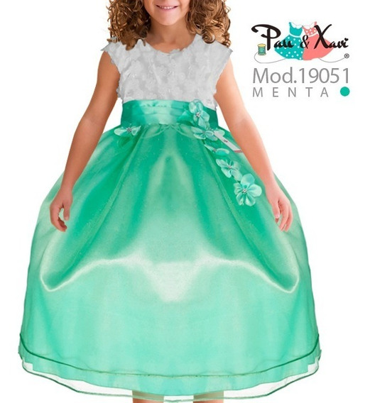 Vestido Color Menta / Pau Y Xavi