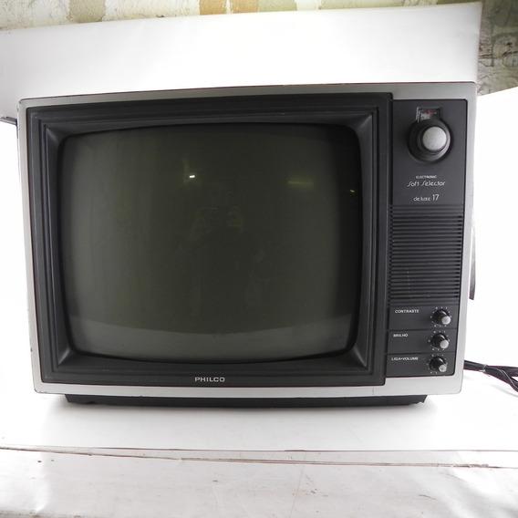 Tv Antiga Philco Soft Selector 17 Decoração C/ Defeito
