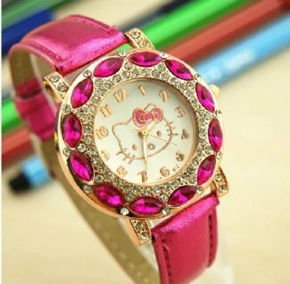 Relógio Infantil Hello Kitty Lindo , Perfeito Promoção