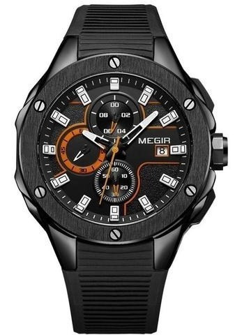 Relógio Masculino Esportivo Megir Original 3d 2053 Luxo
