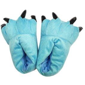 Pantufa Garras Azul Agua Adulto Confortável Pronta Entrega