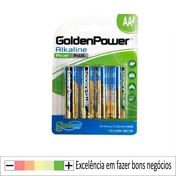 Pilhas Alcalina Aa 2a 1,5v - Embalagem C/ 4 Golden Power