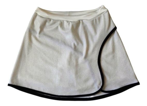 Short Pollera Deportiva Lycra Con Lurex Voley Tenis Hokey