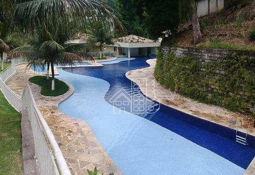 Apartamento Com 2 Dormitórios Para Alugar, 61 M² Por R$ 1.290,00/mês - Maria Paula - São Gonçalo/rj - Ap3677
