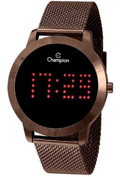 Relógio Digital Feminino Champion Ch40017r Chocolate