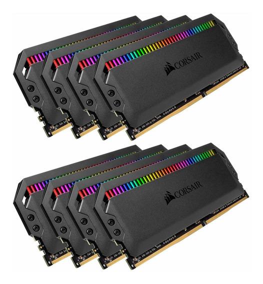 Memoria Ram 64gb Corsair Dominator Platinum Rgb (8x8gb) Ddr4 3000 (pc4-24000) C15 1.35v - Black