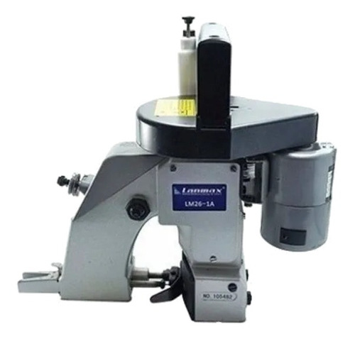 Máquina de costura industrial fechadeira Lanmax LM-26-1A portátil cinza 220V
