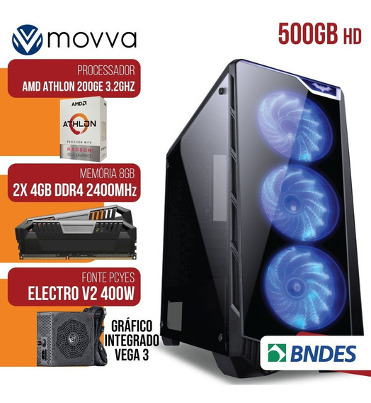 Pc Completo Gamer Com Monitor Lcd! 8gb + 32 Jogos - Nfe