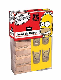 Jenga Torre Del Beber The Simpsons Homero Nueva Original