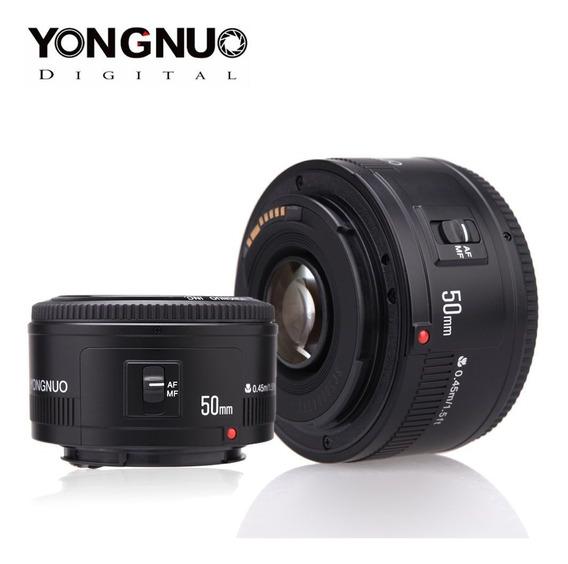 Lente 50mm 1.8 Yongnuo Para Cameras Canon Custo Beneficio