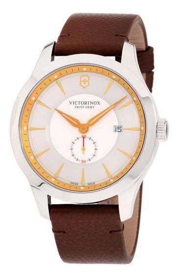 Relógio Masculino Victorinox 241767 Pulseira De Couro