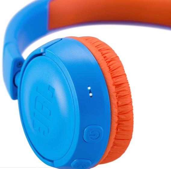 Fone Jbl Infantil Jr300bt Azul Bluetooth Original Criança Nf