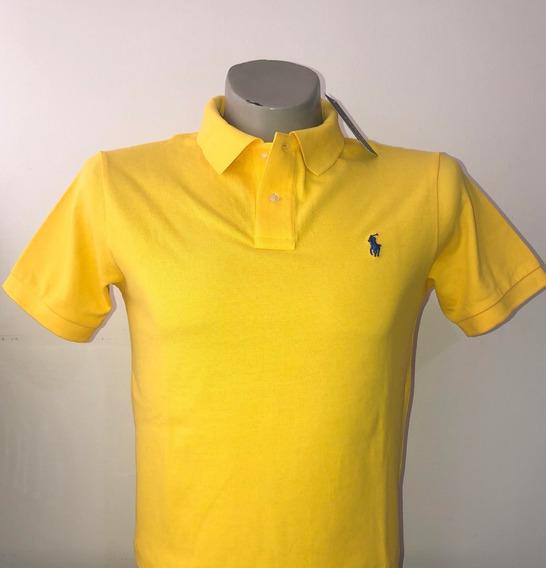 Camiseta Tipo Polo 100% Original Color Amarillo