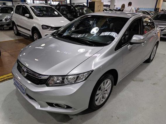Honda Civic Lxl 1.8 Flex Prata 2012 (automático + Baixa Km)