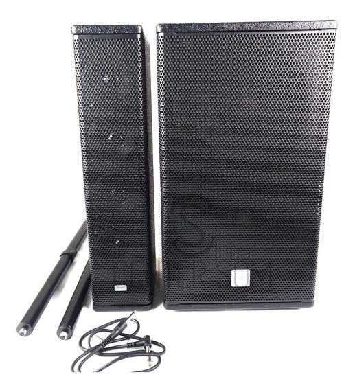 Sistema Amplificado Dbr Vertical Array Va1800 700w Rms Sub