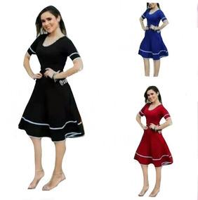 Atacado 10 Peças Vestido Moda Evangélica Rodado Ref.418