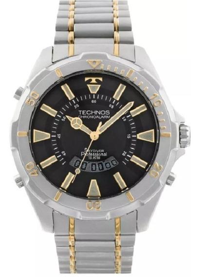 Relógio Technos Skydiver Fundo Preto Grande T205fq/5p