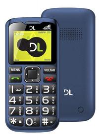 Celular Dl Yc-120 Dual Chip Azul 2g Novo