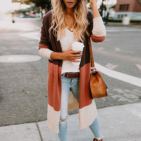 Suéteres De Punto Con Rebeca Delantera Abierta Para Mujer