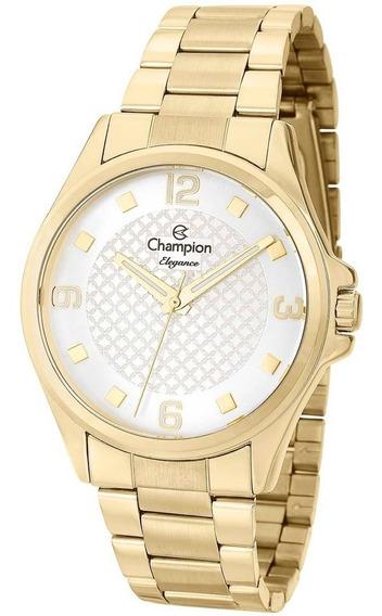 Relógio Champion Analógico Feminino Dourado Cn27563h