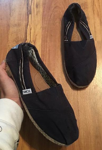 Zapatos Flats Vtoms Spadrilles Fresh Azul Marino 24.5!!