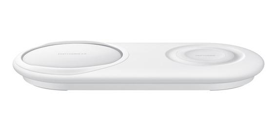 Carregador Rápido Sem Fio Duplo Pad Samsung - Branco