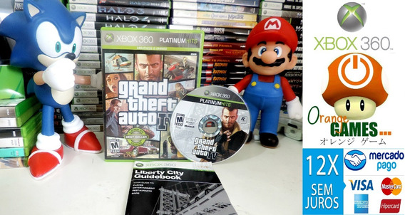 Jogo Gta Iv Xbox 360 Midia Fisica Original Gta 4