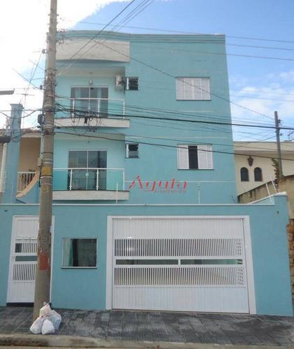 Apartamento Com 3 Dormitórios À Venda, 86 M² Por R$ 420.000,00 - Parque Das Nações - Santo André/sp - Ap0149