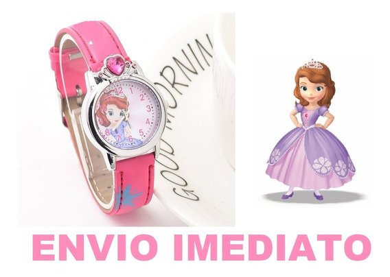 Relógio Princesa Sofia Infantil - Pronta Entrega