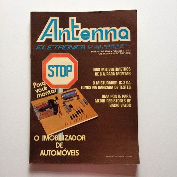 Revista Antenna Eletrônica Profissional Nº01 Janeiro De1980