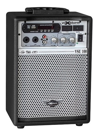 Caixa Multiuso Voxstrom Vsu100 Preta Com Usb E Bluetooth