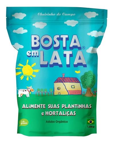 Fertilizante Orgânico Bosta Em Lata Plantas Horta Zip 1,8 Kg