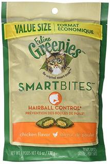 Feline Greenies Smartbites Hairball Control De Pollo (4,6 Oz