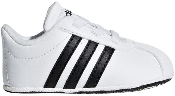 Tenis adidas Vl Court 2.0 Crib K88433 Talla 8-11 Niño Sc