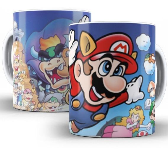 Caneca Super Mario Gamer Jogo Clássico Nintendo 03