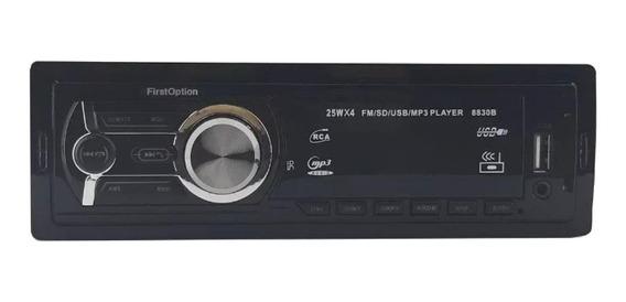 Estéreo First Option 8830B com USB, bluetooth e leitor de cartão SD